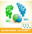 business graphs vector image