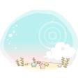 Cute starry garden vector image