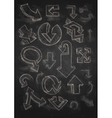 Set Of Hand Drawn Doodle Arrows On Blackboard vector image
