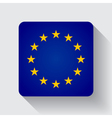 Web button with flag of the EU vector image