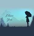 Missing you vector image