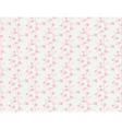 Vintage sakura floral pattern vector image