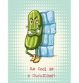 Cool as a cucumber idiom vector image