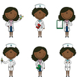 African-American Doctor vector image