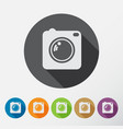 camera icons set with long shadow flat style vector image