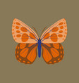 colorful icon of butterfly isolated on brown vector image