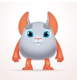 Cute gray mouse mutant Fun Fluffy fat rabbit vector image