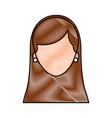 female face cartoon woman profile people vector image
