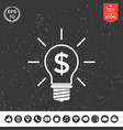 light bulb with dollar symbol business concept vector image