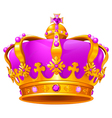 Magic crown vector image