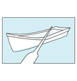 row boat vector image