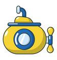 submarine ocean icon cartoon style vector image