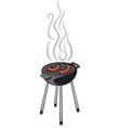 barbecue grill and sausage vector image vector image