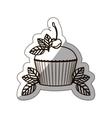 sticker medium shade of cupcake vector image