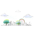 Townscape Drawing vector image