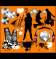 music design elements vector image vector image
