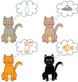 cat thoughts in a bubble vector image vector image