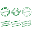 Wednesday stamps vector image vector image