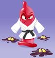 karate condom vector image vector image