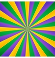 Green yellow and violet rays carnival background vector image vector image