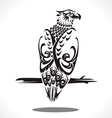 eagle tatto art vector image vector image