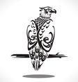 eagle tatto art vector image