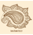 Elegant Hand Drawn Paisley vector image