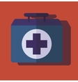 medical bag case first help vector image