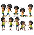 African-American kids vector image
