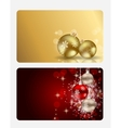 Elegant Christmas Card Set vector image