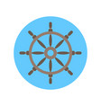 helm icon steering wheel for ship concept vector image