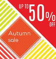 Orange autumn special sale vector image