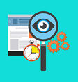 Search optimization concept Flat design Isolated vector image