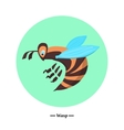 The symbol of the wasp in style flat vector image