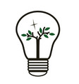 tree in the lughtbulb - energy saving -eco vector image