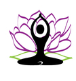 Yoga and lotus flower logo vector image