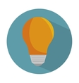 bulb light energy d icon vector image