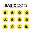 gift box flat icons set vector image