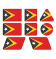 buttons with flag of East Timor vector image