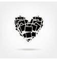 Polaroid Heart Shape Photos vector image