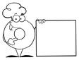 Donut cartoon vector image