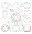 Hand-Drawn Floral Frames vector image