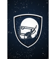 american football badge vector image
