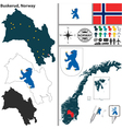 Map of Buskerud vector image