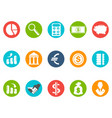 bank round buttons icon set vector image