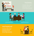 Business style infographic with people vector image