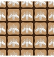 chocolate cacao pattern bean cocoa seed vector image