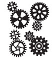 cogs and gears interlocking design vector image