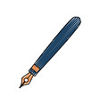 cute luxury pen object to write vector image