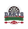 Darts championship emblem vector image